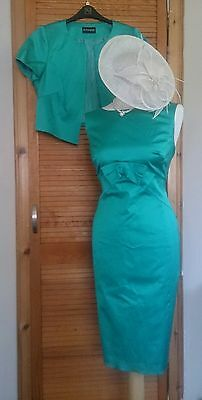 Beautiful Mother of the Bride Jade Green Dress/Jacket by Autograph Size14