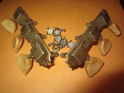Vintage Circa 1960's National Guitar Tuners 3-on-a-Side w/ Grommets Nice!