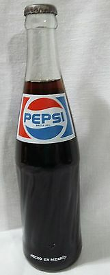Vintage 355 ml PEPSI-COLA Glass Bottle~FULL~ Hecho en~Made MEXICO~ Unopened
