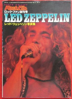 Rare!! Led Zeppelin Photo Book 1977 Rock Fun Special Issue Japan Robert Plant