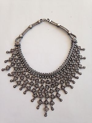 Beautiful Antique Tribal Vintage Ethnic Silver Necklace Rajasthan Ra