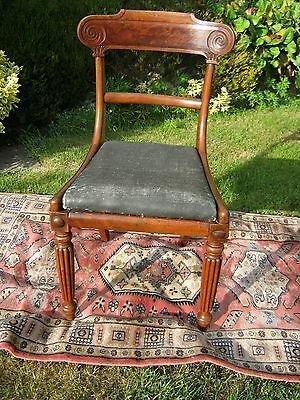 William IV Mahogany Dining Chair with Carved Back
