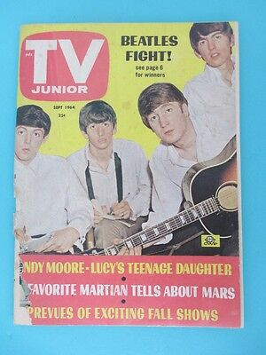 RARE TV JUNIOR Magazine w/THE BEATLES, Man From Uncle, Lucy, Davy Crockett