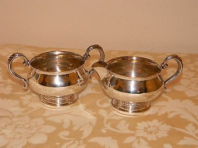 Sterling Silver Cream and Sugar Set Fisher 925 723