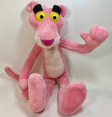 Vintage Pink Panther Plush Stuffed Animal Toy Doll 29 Tall Adjustable Soft Cute