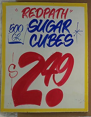 Honest Eds collectible sign  REDPATH SUGAR CUBES  *gift for cooks""