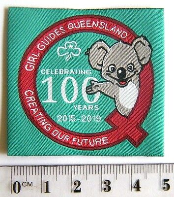 "CENTENARY of GIRL GUIDES QUEENSLAND BADGE ""Creating Our Future"" 2015-2019"