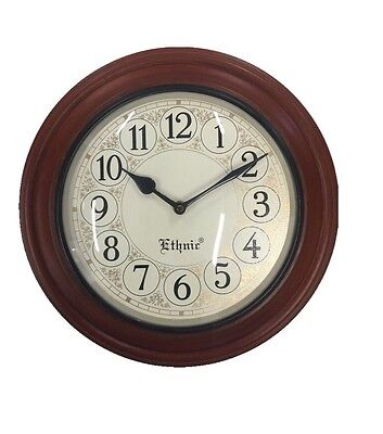 Ethnic Antique Style Hand Crafted Wall Clock Gift Decor Clocks Brass Work 12""