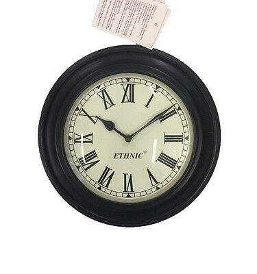 """Ethnic Antique Style Hand Crafted Wall Clock Gift Decor Clocks Brass Work 12"""""""
