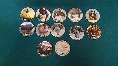 Set of (12)  AAFES  Pogs  from 2008 printing