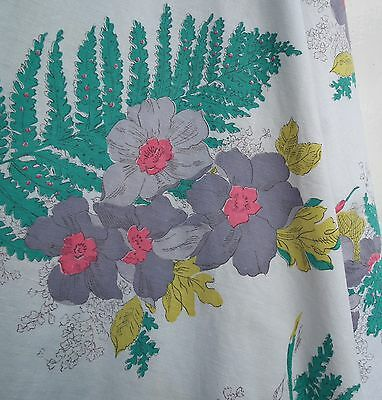 """VINTAGE FULL CIRCLE SKIRT 1940s 1950s FLORAL COTTON FABRIC XS S  WOMEN'S 25"""""""