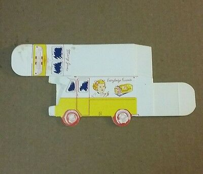 "Vintage Mary Jane Bread Advertising Cardboard Truck Box 2 1/2""x4 1/4"" PreownedI"