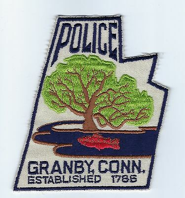 Granby (Hartford County) CT Connecticut Police Dept. patch - Nice!