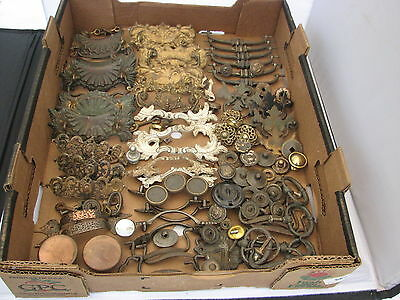Large Lot Of Drawer Pulls And Other Cabinet Hardware