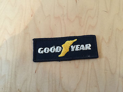 good year   patch,sew on, new old stock,yellow foot,1970's,set of 2
