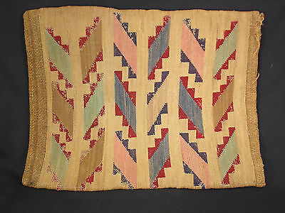 A Large Plateau Corn Husk bag, Native American Indian, Circa: 1910