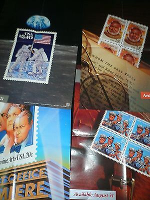 100+ 1980's US Post Office STAMP POSTERS NO RESERVE!!!