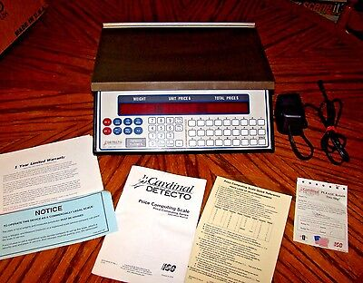 Cardinal Detecto PC-20 A Digital Price Computing Scale DELI MEAT 15lbs .005 MINT
