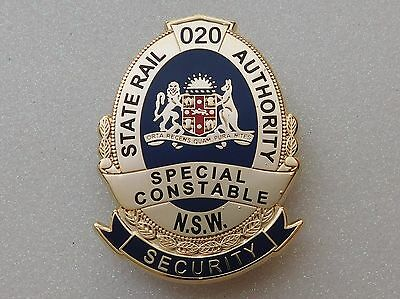 State Rail Authority NSW Security Special Constable obsolete replica badge
