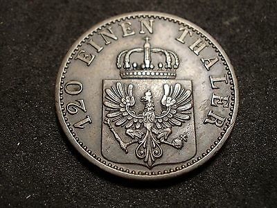 1871 German State Prussia 3 pfennig coin-mint mark C  - -sh Canada is 1.50