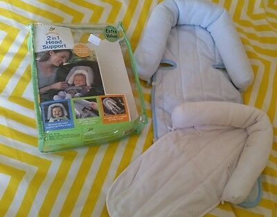 2 in 1 head support baby car seat, pram or bouncer
