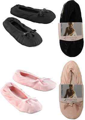 New FITS SHOES size 1-3 KIDS YOUTH GIRLS 2 PAIR BLACK PINK DANCE BALLET SLIPPERS
