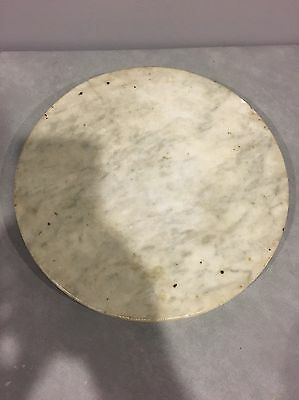 "Vintage 11"" Round Marble Base Gray Trivet Cheese Plate"