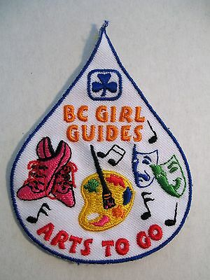 Girl Guides Canada  B.c. Arts To Go Embroidered  Patch  Scouts
