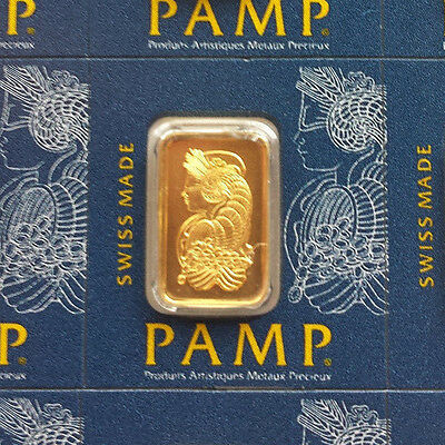 1 gram Gold Bar. Pamp Suisse Lady Fortuna. Sending from Australia