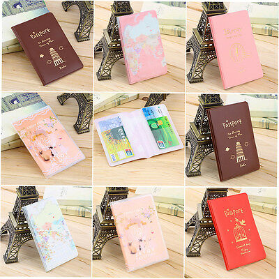 New Travel Passport Holder Protect Cover Case Card Ticket Container Pouch ET