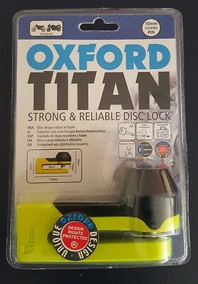 NEW Oxford titan disc lock motorcycle. Free postage. Unopened, sealed package.
