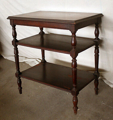 Antique Vintage Mahogany Wood Wooden Side End Accent Lamp Table Nightstand Stand