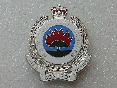 NSW Bush Fire Brigades Fire Control Officer obsolete replica badge Not Police