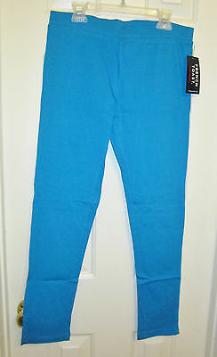New FRENCH TOAST Girls Solid Leggings,Vivid Blue,Size 14/16,Cotton/Spandex Girls