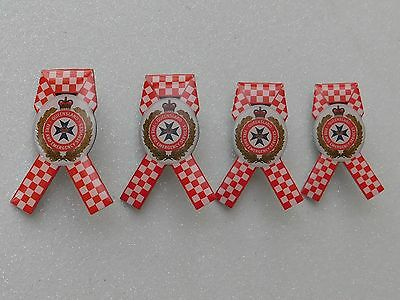 Queensland Fire & Emergency Ribbon Lapel Pins Lot of 4 Not Police Rescue Medical