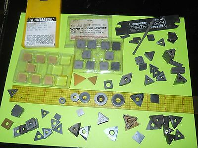 Lot of 100 Grab Bag Carbide lathe inserts most new and free tool