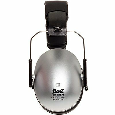 Baby Banz Kids Hearing Protection Earmuffs Silver Ages 2-10