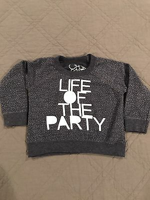 Chaser Kids Life of the Party Blue Sweater Sweatshirt Size 2 Toddler Boys