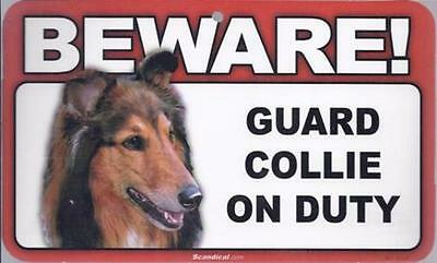 "Scandical ""Beware! Guard Collie on Duty"" Novelty Sign New"