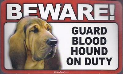 "Scandical ""Beware! Guard Blood Hound on Duty"" Novelty Sign New"