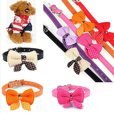 Small Leather Pet Dog Cat Puppy Collar Neck Buckle Adjustable Neck Leash Strap