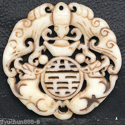 Old Chinese Neolithic xiuyu jade Hand carved Amulet Pendant   0001398