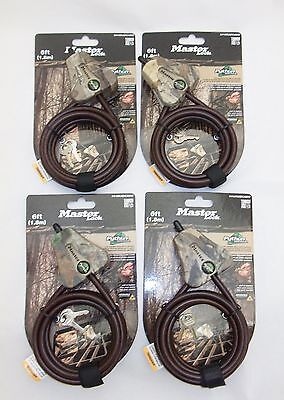 12 Keyed the Same Master Lock 8418KAD Python Locking 6' Cable Camo - Free Ship