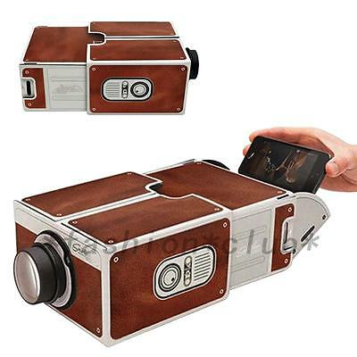Portable DIY Cardboard Smart Phone Projector Cinema Mini Projector Toy Gift FC