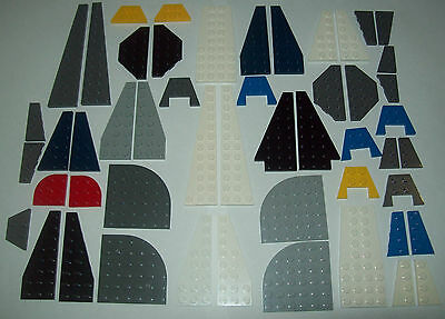 Genuine Bulk LEGO Lot of Mixed Colour Wing Plates, Assorted Sizes, FREE POST