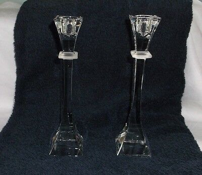 Pair Nachtmann Bleikristall Candle Stick Holders ~ Germany Crystal Glass