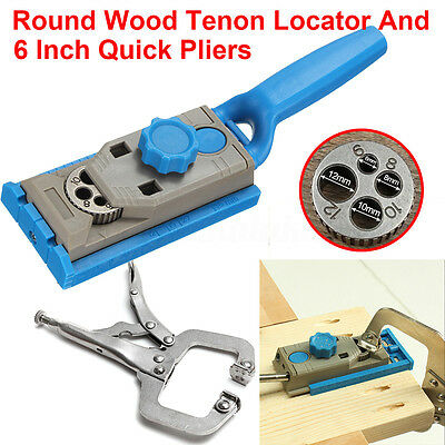 Pocket Hole Drill Jig Joinery Doweling Locator Round Tenon Woodworking +C Clamp