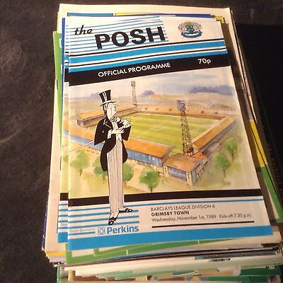 Preterborough United V Grimsby Town 1/11/89