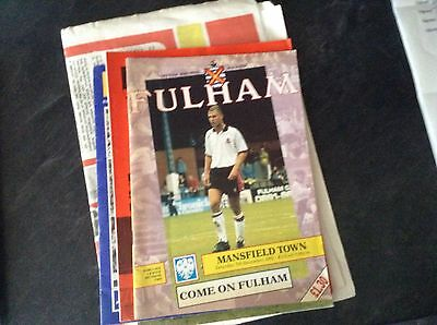 Fulham V Mansfield Town 5/12/92