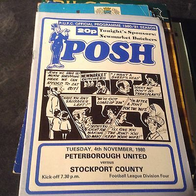 Preterborough United V Stockport County 4/11/80